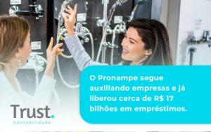 O Pronampe Segue Auxiliando Empresas E Já Liberou Cerca De R$ 17 Bilhões Em Empréstimos. Saiba Mais Trust Contabilidade - Trust Contabilidade